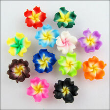 Wholesale New Charms Mixed Polymer Fimo Clay Beautiful Flower Spacer Beads 15mm