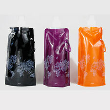 480ml Sport Water Environmental Foldable Portable Bottle Cup Bag for Hiking