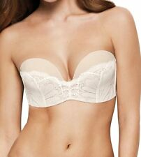 Wonderbra Ultimate Strapless Lace Refined Glamour Bra W031U Ivory