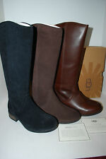 NIB NEW AUTHENTIC UGG AUSTRALIA SELDON LEATHER or STOUT SUEDE BOOTS 7 8 9 10