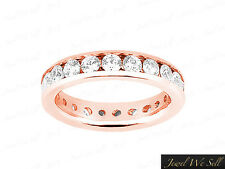 3.00Ct Round Diamond Classic Channel Set Eternity Wedding Ring 18K Gold H SI2