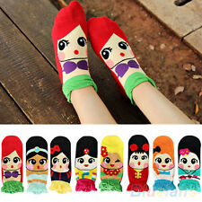 Korean Womens Retro Vintage Cute Cartoon Girls Cotton Ankle Low Cut Socks d26