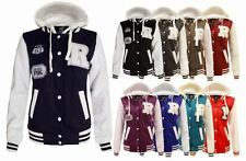 Women Long Sleeve Baseball Hooded Ladies Bomber Varsity Orlando Coat Jacket