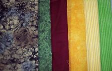 """Quilting filler fabrics 100% cotton stones stripes brights 1 yd x 44""""w FREE SHIP"""
