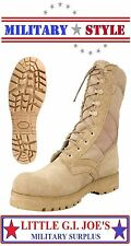 "Jungle Boots 10"" Desert Tan G.I Style Military Sierra Lug Sole Combat Boots 5257"