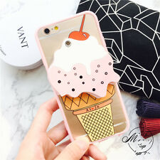 Hot Cute pink ice cream mirror Hard case cover skin for apple iphone 6 6S plus