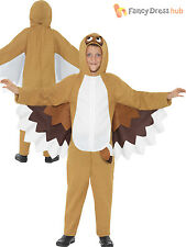 Kids Owl Fancy Dress Costume Childs Animal Bird Book Week Boys Girls Outfit