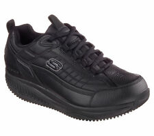 77049 Black Skechers Shoe Shape Ups Men New Memory Foam Walk Work Slip Resistant