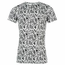 No Masters Over Print T Shirt Tee Casual Fashion Mens Gents