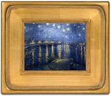 """CLASSIC COLONIAL PHOTO PICTURE ART PAINTING FRAME PLEIN AIR GOLD WOOD 3.5"""" WIDE"""