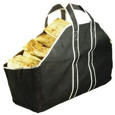 Large Heavy Duty Canvas Log Carrier Bag Fireplace Wood Holder Storage Tote #37