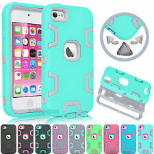 For Apple iPod Touch 5 5th / 6 6th Gen TPU Hybrid Rugged Rubber Hard Case Cover