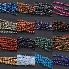 Multi Color Natural Gemstone Round Spacer Loose Beads 4mm 6mm 8mm 10mm 12mm DIY