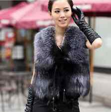 Ladies Winter Faux Fur Waistcoat Gilet Jacket Coat Sleeveless Outwear Short Vest