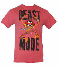 Disney The Muppets Mens T-Shirt Beast Mode Distressed Crazy Animal