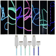 Flash Blue LED Light USB Sync Charger Cable For iPhone 5 iPod Touch 5 Nano 7 DAY