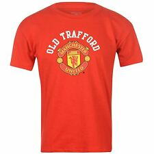 Source Lab Infants MUFC Core Casual Football T Shirt Top Boys Children