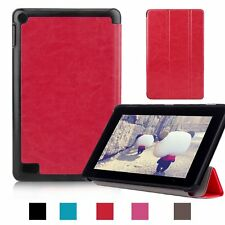 Folio Slim Stand Leather Case Cover for Amazon Kindle New Fire 7'' HD 8 10 2015