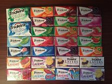 TRIDENT Chewing Gum VARIETY Choose 1 Pack MANY FLAVORS - LAYERS - Sugar Free