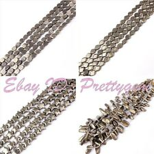 """Natural Pyrite For DIY Jewelry Making Gemstone Spacer Loose Beads Strand 15"""""""