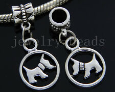 6/30/100pcs Tibetan Silver Lovely dog Bulk Lots Dangle Charms Bracelet Craft DIY