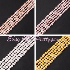 "Wholesale 5-7mm Freeform Freshwater Pearl Gemstone Spacer Beads 15"" (5 Strand)"