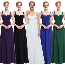 VTG Maternity Long Bridesmaids Evening DRESS WEDDING Party Prom MAXI Ball Gowns