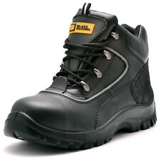 Mens Safety Boots Steel Toe Cap Work Shoes Ankle Size 8 9 10 Leather S3 Rated