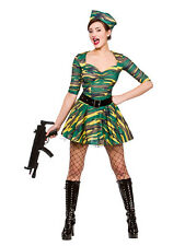 Corporal Cutie Adult Ladies Fancy Dress Costume Military Uniform Army UK 6-24