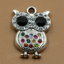 5/20pcs Tibet Silver Exquisite Owl Charm Pendant Jewelry Finding Making 21X30MM
