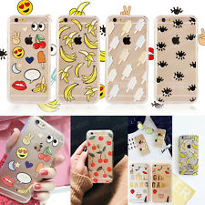 Cute Cartoon Eye Fruit Clear Hard Back Case Cover Skin For iphone 5 6 6Plus 6S