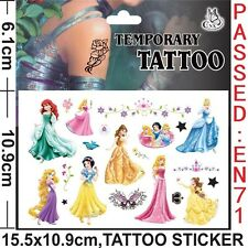 Kids Temporary Tattoos Stickers Princess Body Art Removable Waterproof Party Bag
