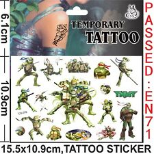 Kids Temporary Tattoos Stickers Turtle Ninjas Body Removable Waterproof Party