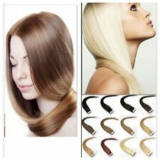 Sale~16''-24'' 100% Tape In Remy Human Hair Extensions PU Hair 20pcs / 30g -70 g