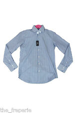 *HUGO BOSS* REGULAR FIT EASY IRON BLUE ON BLUE STRIPED SHIRT