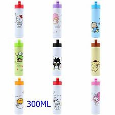 HELLO KITTY MY MELODY XO SNOOPY 300ML STAINLESS STEEL VACUUM FLASK WARM BOTTLE