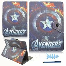 "For Universal 7"" 7.9 inch Tablet PU Leather PC Flip Cover Case captain america"