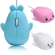 2.4GHz 3D Optical Mouse Mice Girls Dolphins Shape 1200 DPI USB Wired PC Laptop