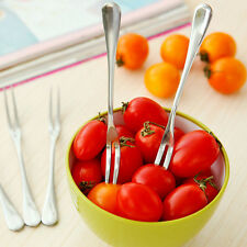 1/5/10/20Pcs New Stainless Steel Fruit Forks Party Dessert Flatware Fruit Forks