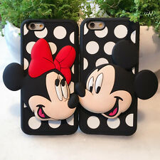 3D Cute Cartoon Mouse LOVERS Silicone Soft Case Cover for iPhone 5S 6 6S Plus