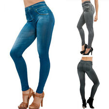 NEW WOMENS LADIES HIGH WAISTED JEANS CUT SKINNY JEGGINGS