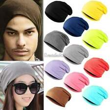 Men Women Unisex Solid Slouchy Hip-hop Cap Beanie Hat Beany Warm 9 Colors GT56