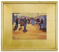 """5"""" WIDE CLASSIC MODERN PHOTO PICTURE ART PAINTING FRAME PLEIN AIR WOOD GOLD LEAF"""