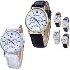 Mens Watches Rome Article Silver/Gold Dial Analog Quartz Vogue Wrist Watches New