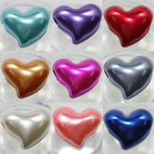 10Pcs Mixed Color Acrylic Heart Shaped Loose Spacer Beads DIY Findings 24x20mm