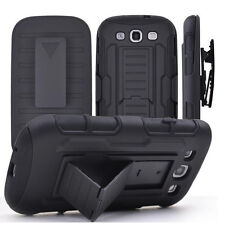 Tank Armor Rugged Hybrid Hard Case Stand Cover For Galaxy S3 S4 S5 S6 S7&Edge