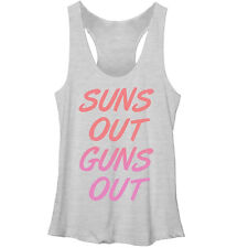 CHIN UP Sun's Out Guns Out Womens Graphic Racerback Tank - Fifth Sun