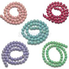 Spacer Gemstone Beads Strand 8mm Round Jewelry Bracelet Necklace Making 8mm Bead
