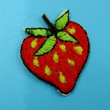 1 Strawberry Fruit Food Iron on Sew Patch Cute Applique Badge Embroidered Nature