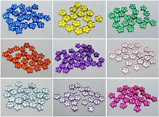 1000 Acrylic FlatBack Mini Flower Rhinestones Gems  4mm Pick Your Color
